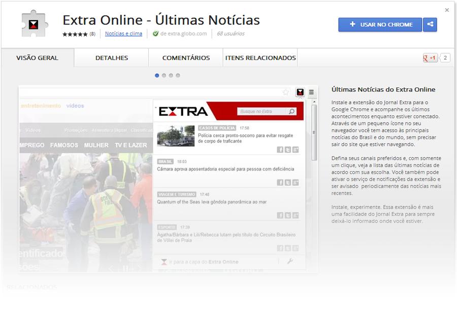Extra Online - Últimas Notícias (para Google chrome)